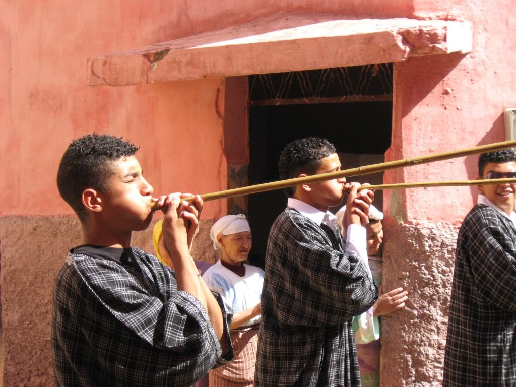 Wedding trumpeters in Meknes